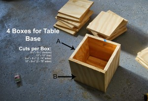4 boxes for table base Alphabet Blocks Inspired Play Table by ToolBox Divas