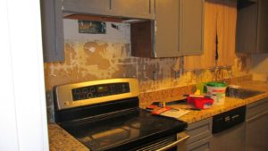 Tiling the kitchen