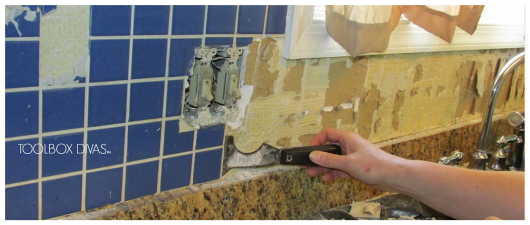 how to remove tile backsplash without damaging drywall apps