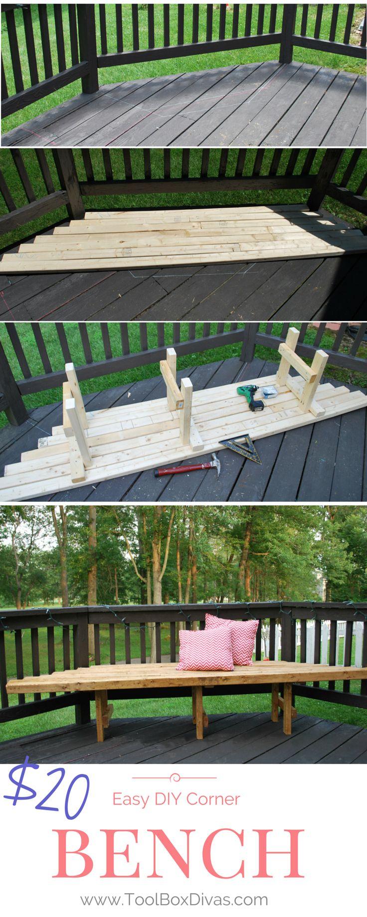 Easy Diy Corner Bench