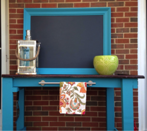 Beautiful Outdoor Buffet Repurposed by Karla @ SmallTownRambler.com