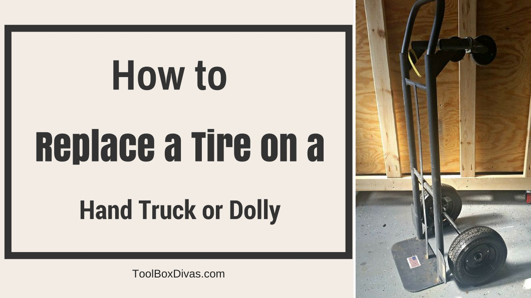 replace  tire   hand truck  dolly