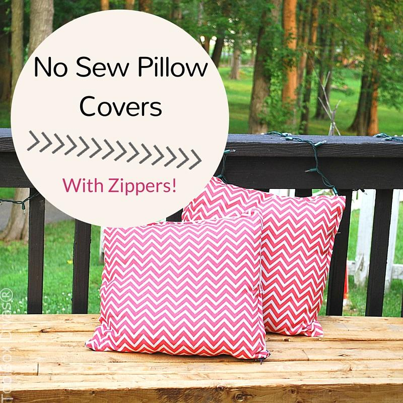 How to Make No sew Pillow covers with zippers (1)