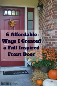 6 Affordable Ways I Created a Fall Inspired Front Door