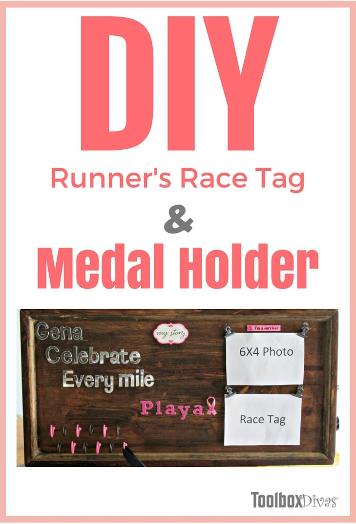 How To Make A Runner S Race Bib And Medal Holder
