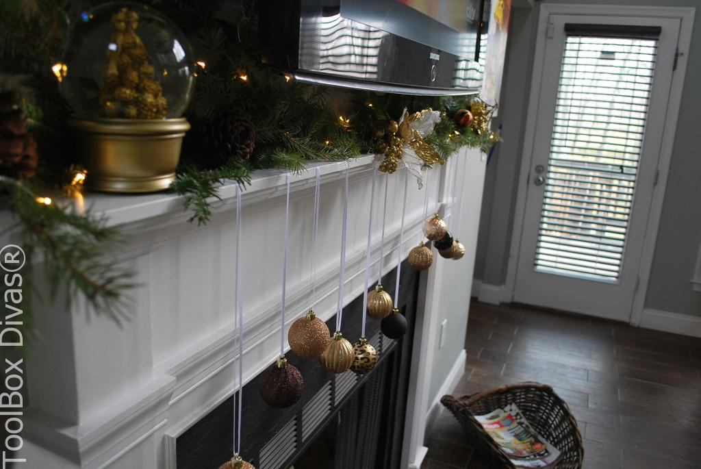 Ornaments from firelace mantel - Toolbox Divas