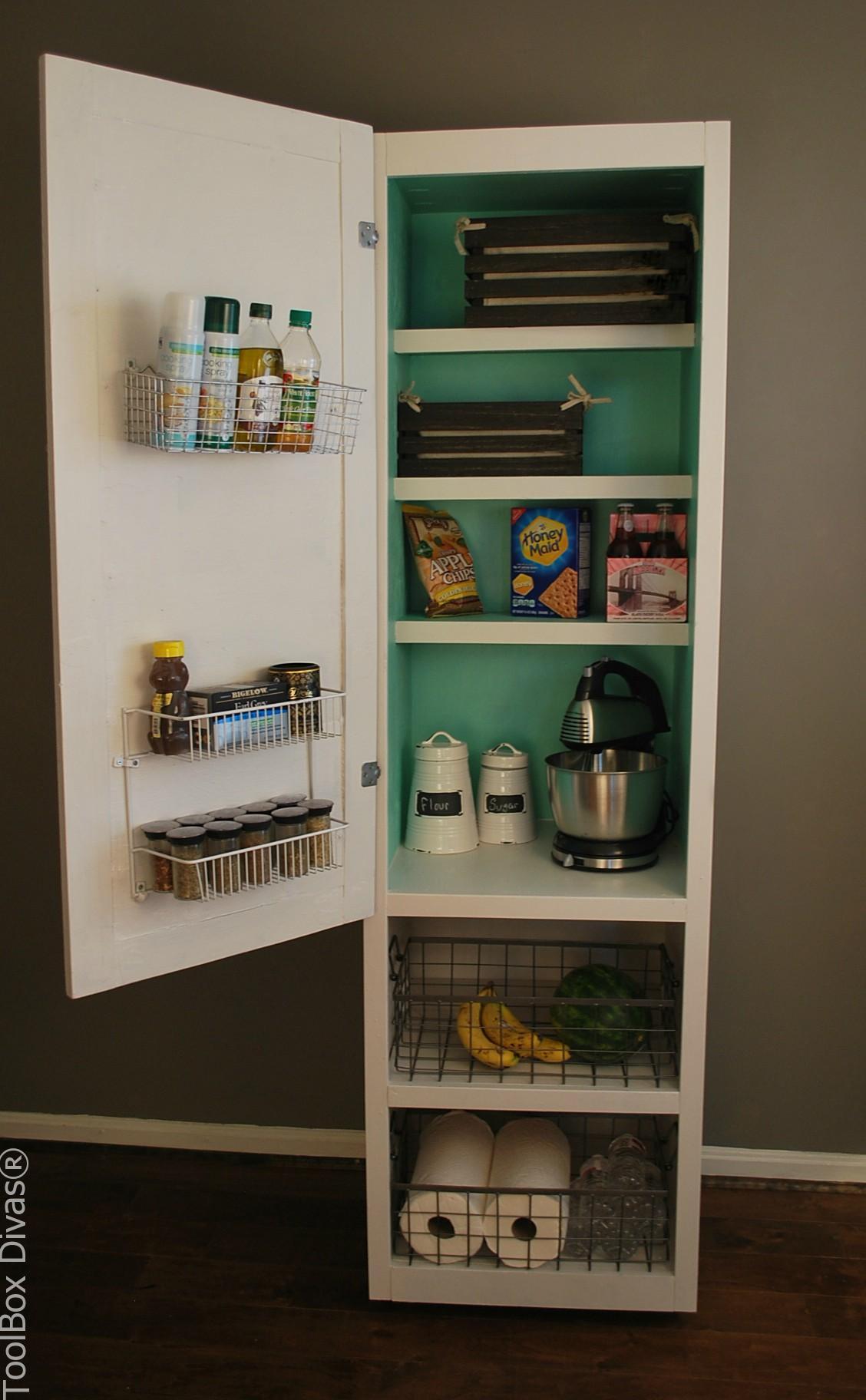 DIY Mobile Pantry Cabinet