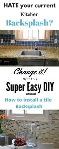 A Super Easy way How to install a kitchen tile backsplash