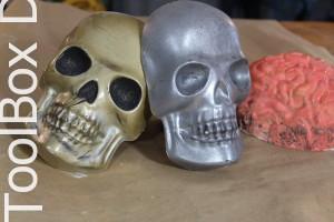 plaster skulls for halloween