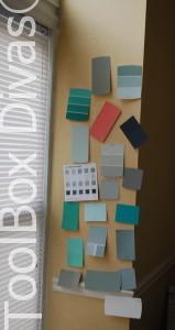 dining room color swatches