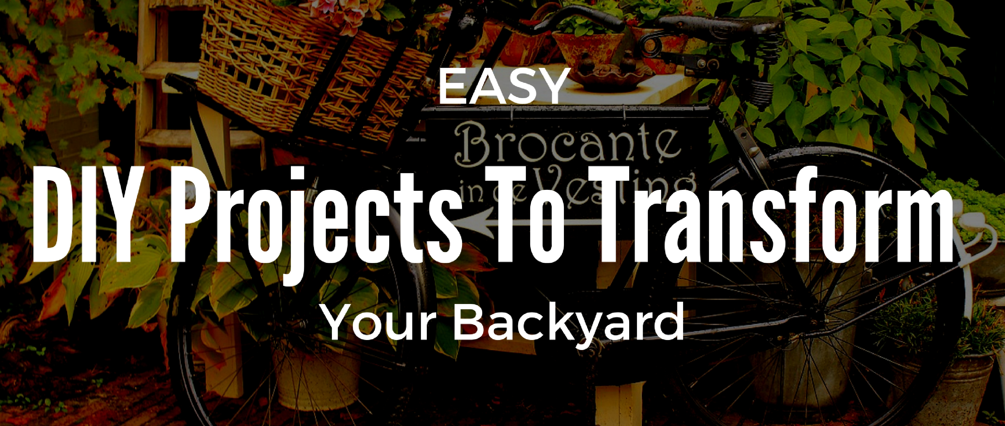 From Dumpy To Divine: Easy DIY Projects To Transform Your Backyard
