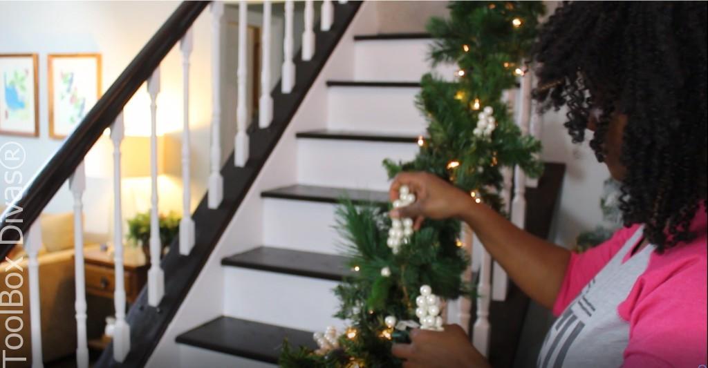 insert berries Christmas Stairs - Toolbox Divas