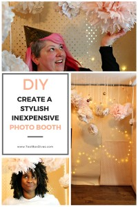 ToolBox Divas - Make a photo booth for your next party. This inexpensive yet stylish photo booth is perfect for a wedding, birthday party or New Years eve party.