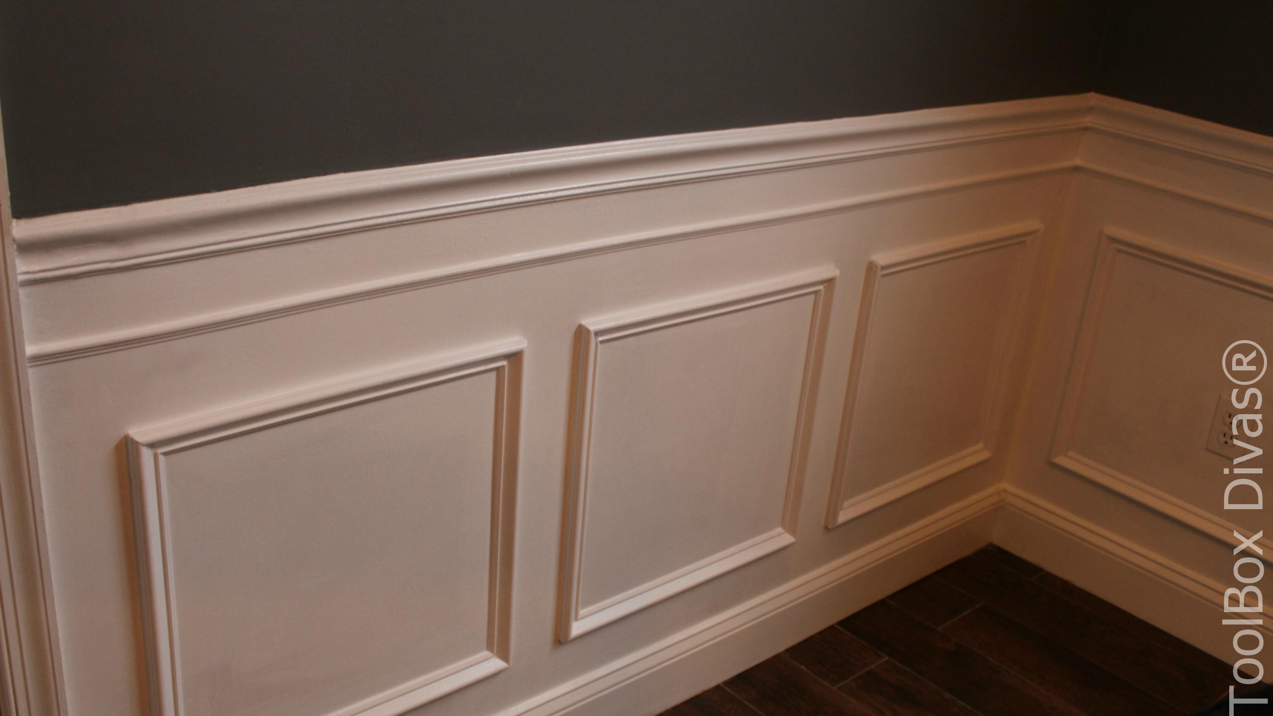 How to install picture frame moulding wainscoting toolbox divas jeuxipadfo Images