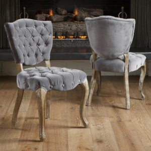 Best Lane Tufted Fabric Dining Chair