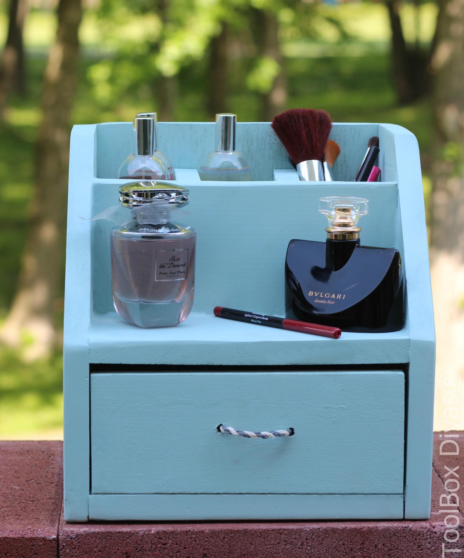 DIY Perfume and Make-up Organizer