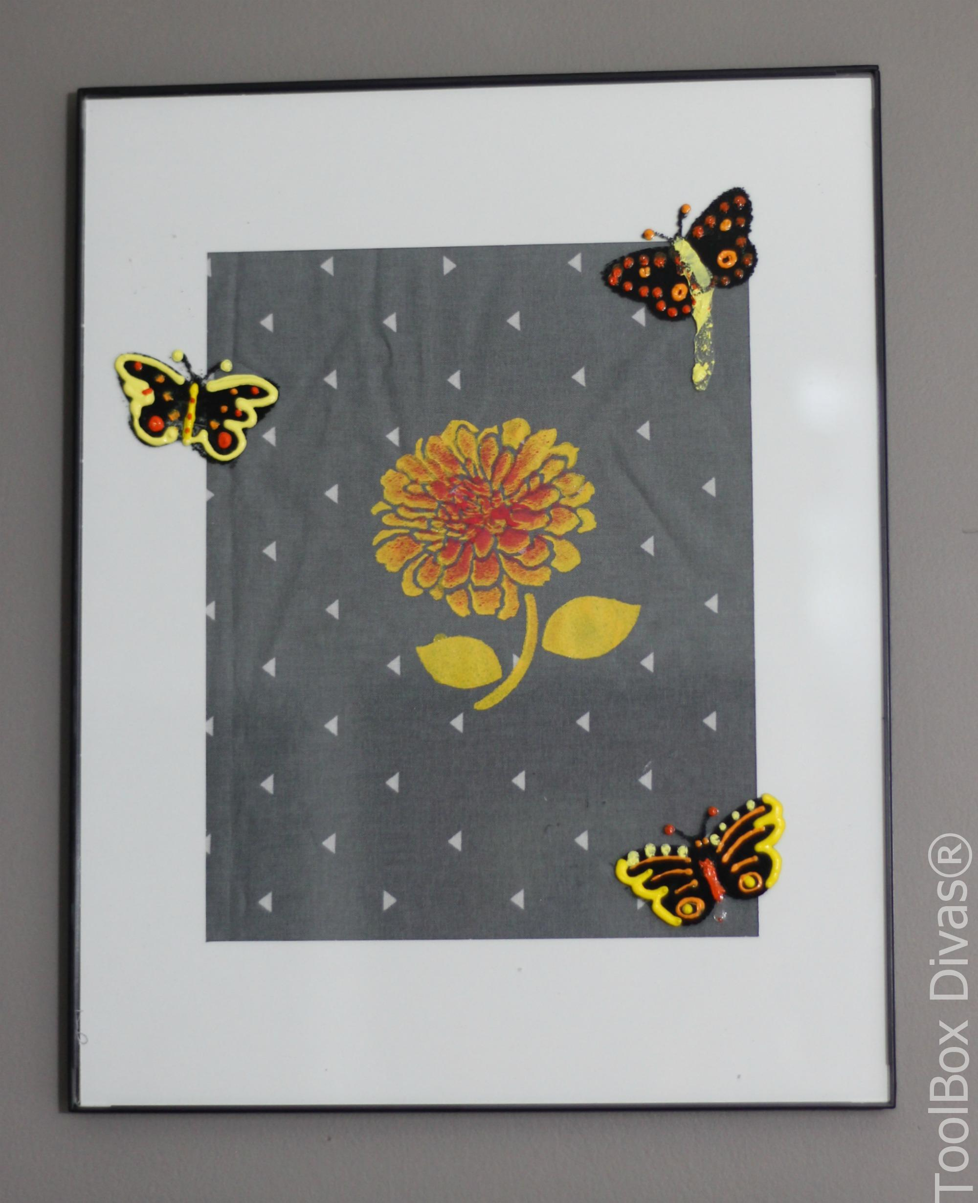 Using Fabric for Wall Art