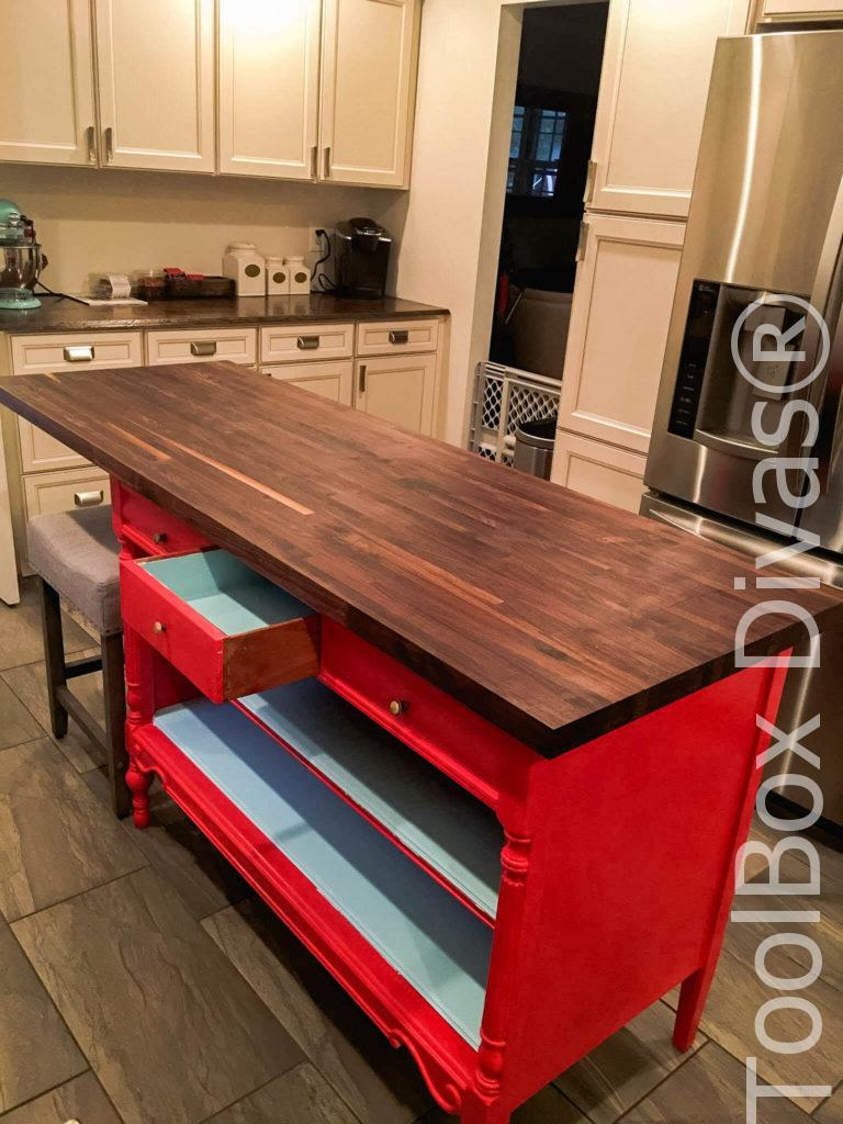 All Dressed Up Turn An Old Dresser Into A Kitchen Island
