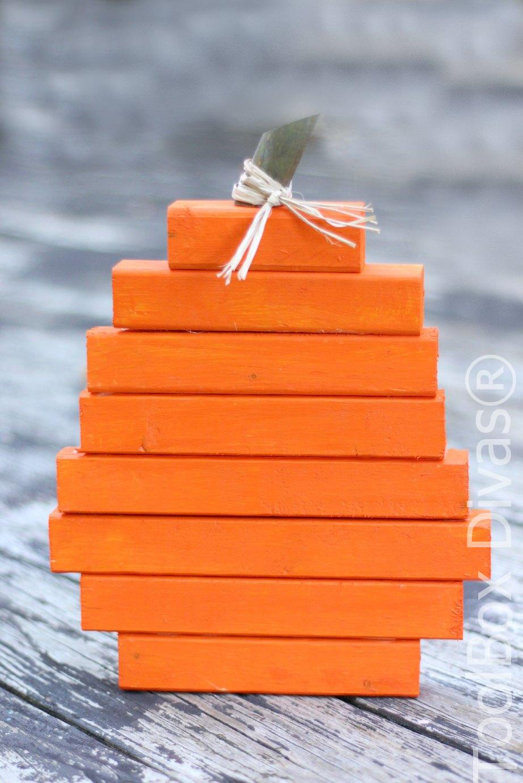 Easy DIY Scrap Wood Pumpkins You Can Make in Minutes