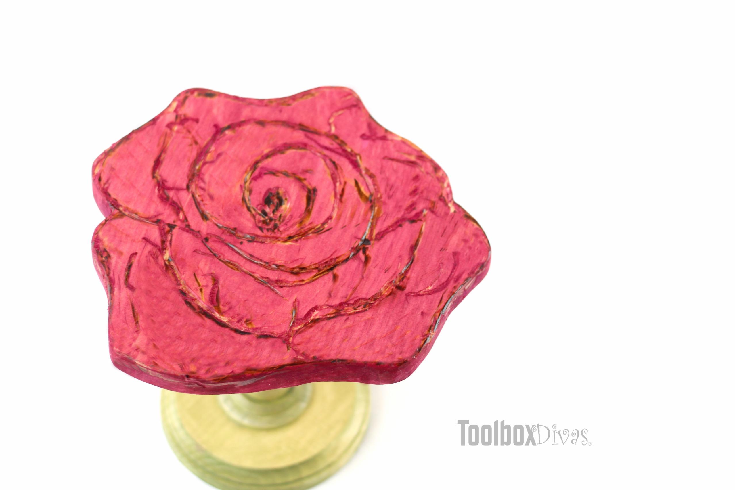 Rose Cake Stand Top View Toolbox Divas Toolbox Divas