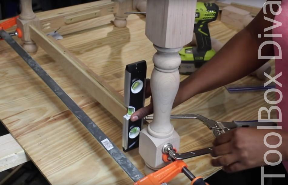 How to Build A DIY Tufted Bench - Toolbox Divas 9