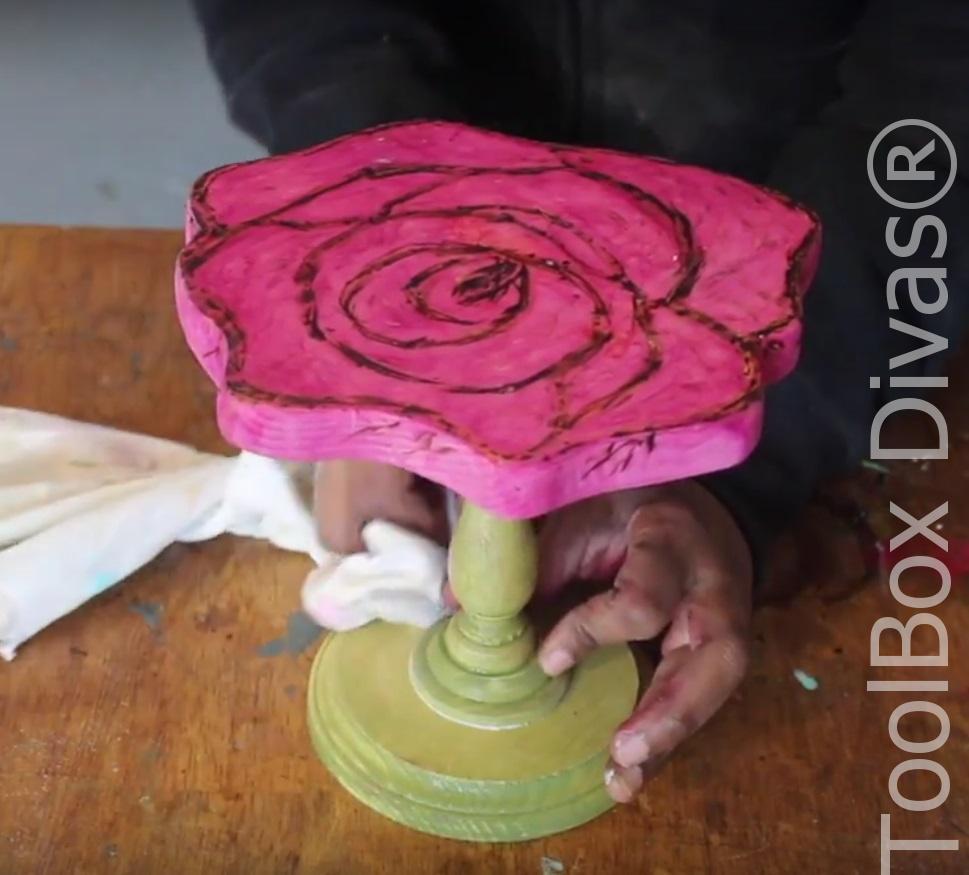 How To Make A Diy Rose Cake Stand Toolbox Divas 14
