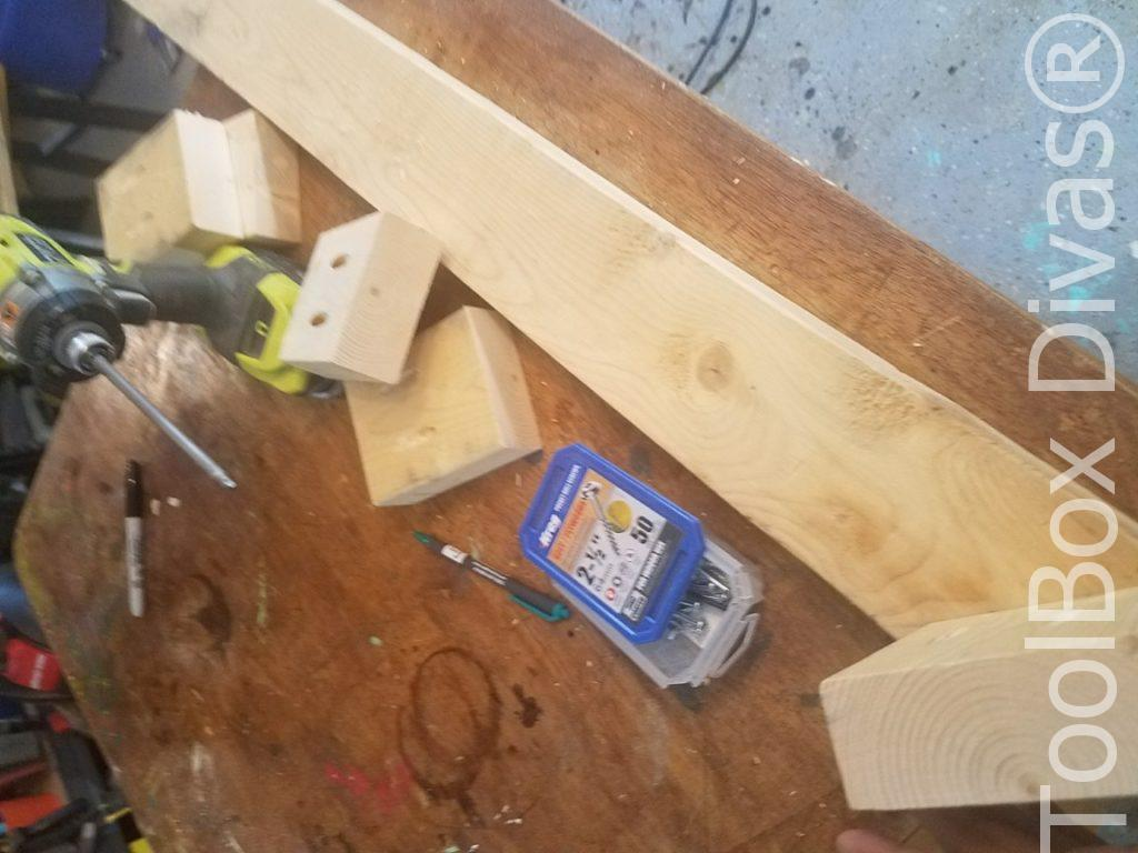 How to build a Rustic Faux wood beam mantel or floating shelf - Toolbox Divas 50