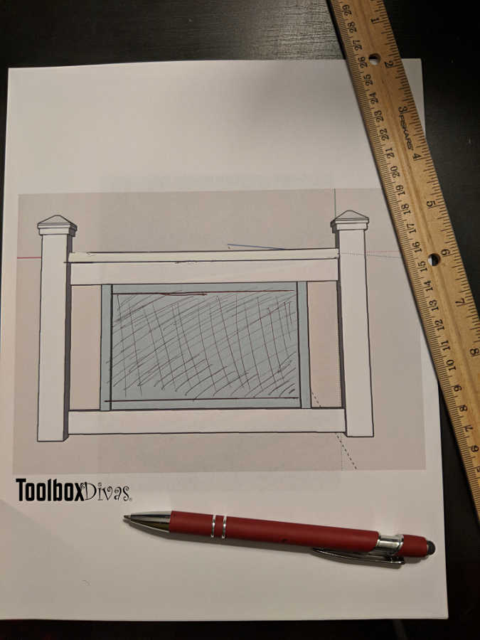 DIY Deck Railing Free plans and tutorial on build and install- Toolbox Divas