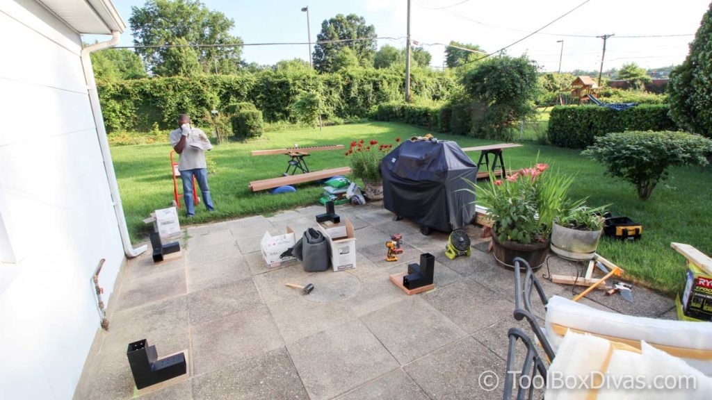 Must See Diy Patio Makeover With Pergola Toolbox Divas