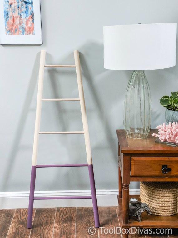 DIY Tapered Blanket Ladder