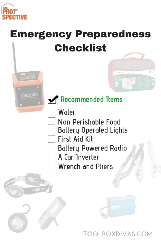 Emergency Preparedness Checklist for Severe Weather - ToolBoxDivas