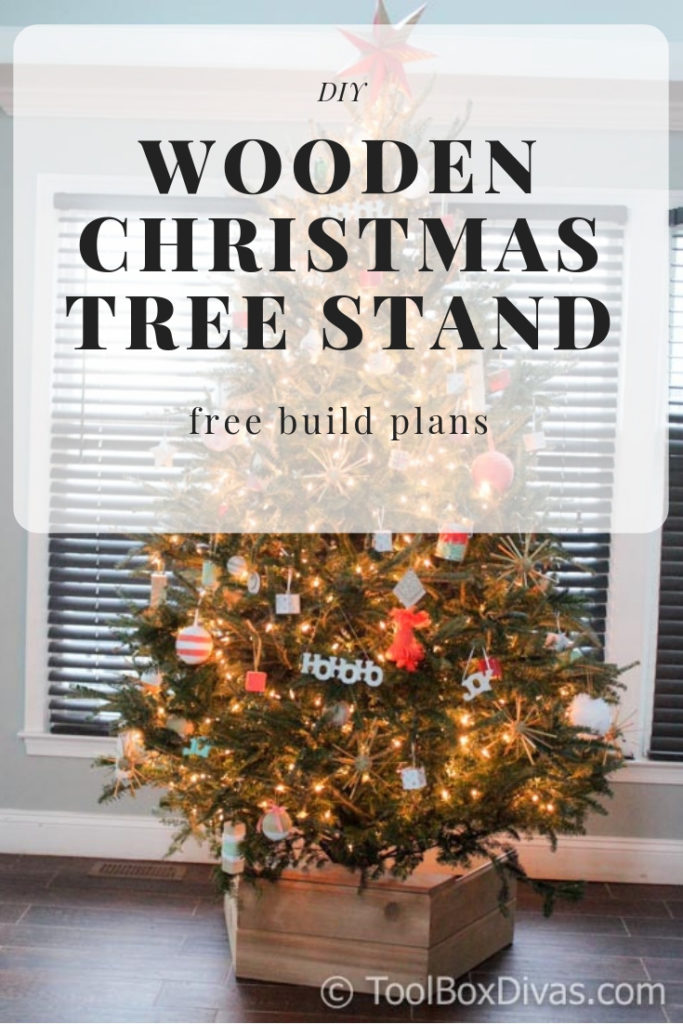 Diy Wooden Christmas Tree Stand Box Toolbox Divas