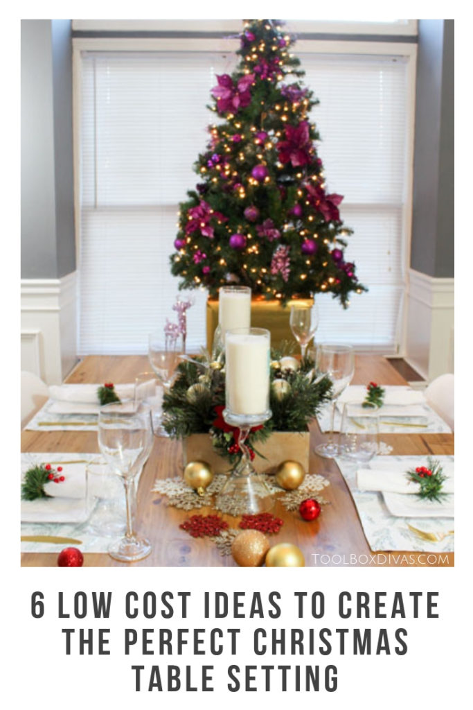 6 Simple Low Cost Ideas to Create the Perfect Christmas Table Setting