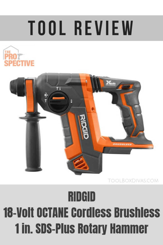 Tool Review of RIDGID 18-Volt OCTANE Cordless Brushless 1 in. SDS-Plus Rotary Hammer @ToolboxDivas