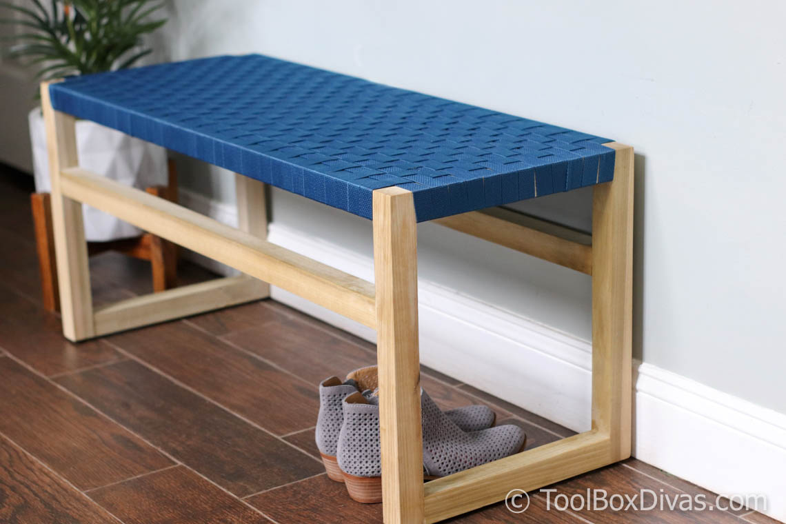 How to Build Wooden Bench with Woven Fabric Seat