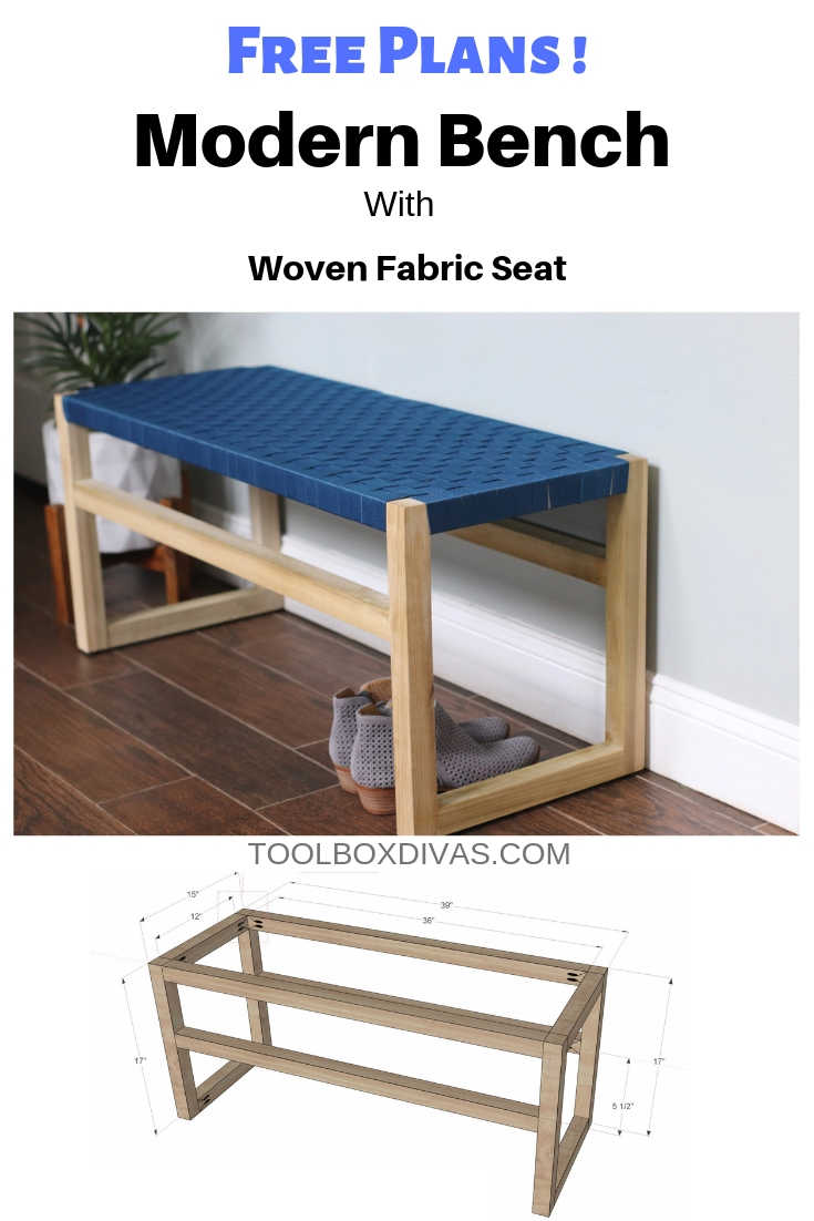 Pleasant How To Build Wooden Bench With Woven Fabric Seat Toolbox Divas Machost Co Dining Chair Design Ideas Machostcouk