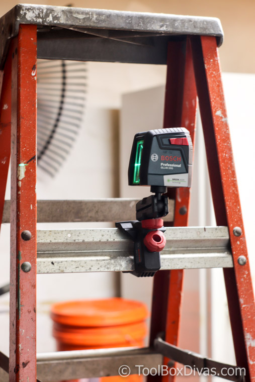 The Bosch 40 ft. Self Leveling Cross Line Laser with VisiMax Green Beam