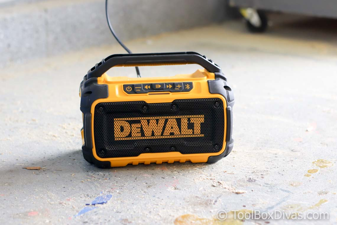 The DEWALT 20-Volt MAX Bluetooth Speaker