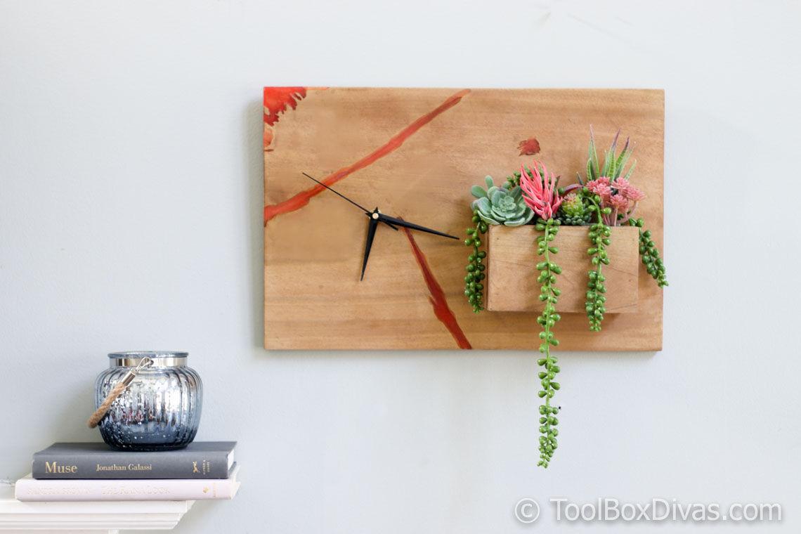 DIY Wood and Epoxy Clock