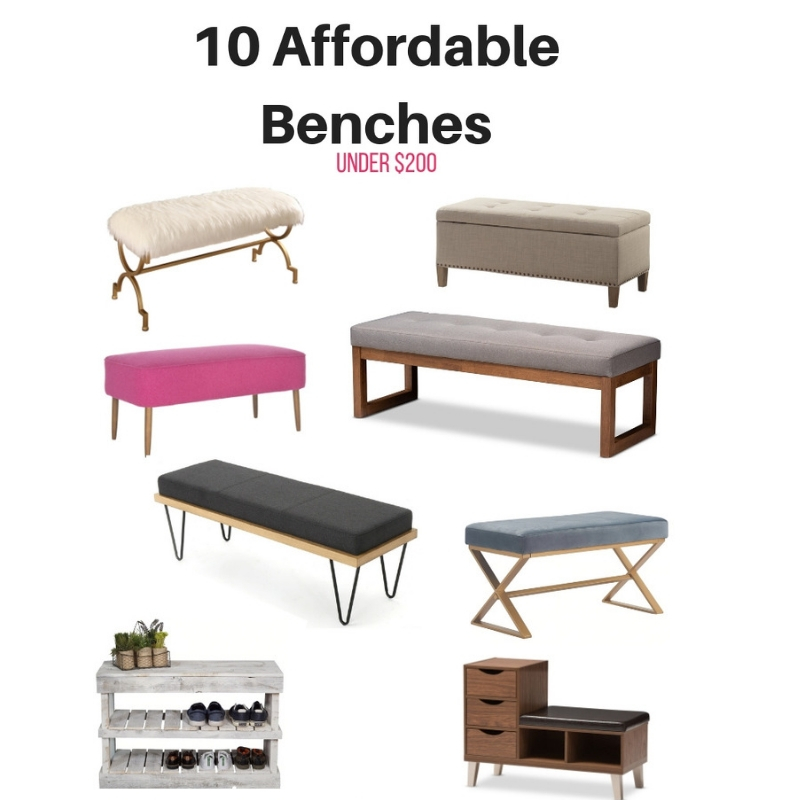 10 Great Modern Style Benches Under $200!!