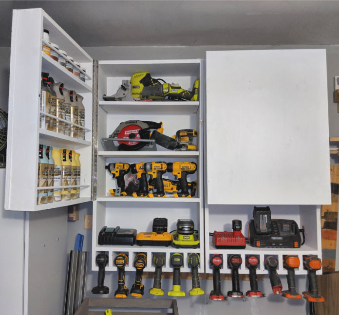 How to Make a Tool Storage Cabinet with Charging Station
