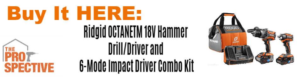 Ridgid OCTANETM 18V Hammer Drill/Driver and 6-Mode Impact Driver Combo Kit