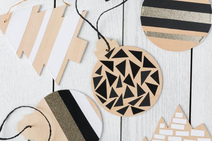 DIY Basswood Christmas Ornaments