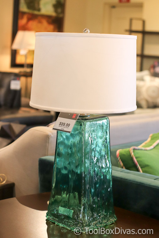 Cort Furniture @toolboxdivas Tips on Decorating on a budget-87 - emerald glass lamp