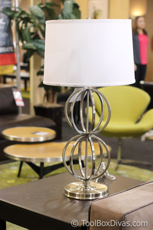 Metal lamp Cort Furniture @toolboxdivas Tips on Decorating on a budget-49