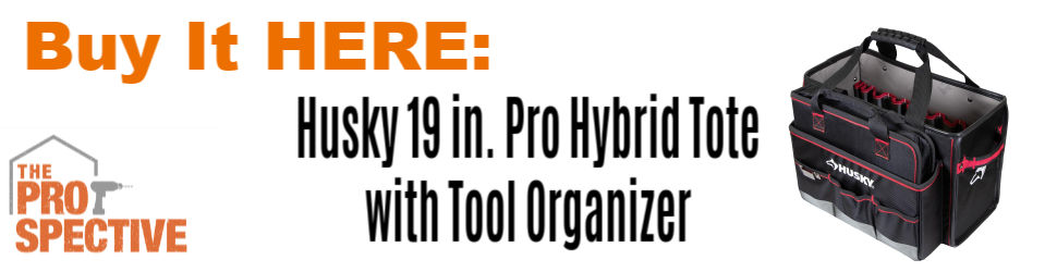 Husky 19 in. Pro Hybrid Tote with Tool Organizer $44.97