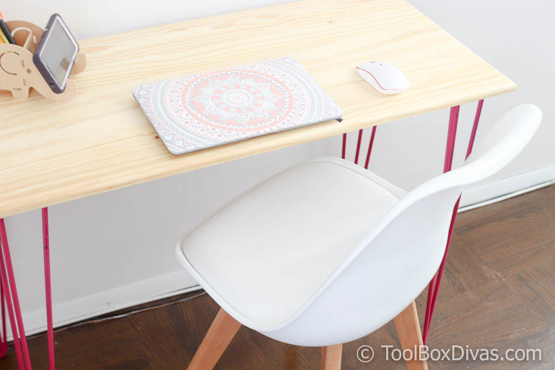 How to Build a Modern Desk with Hairpin Legs: A Nap Time DIY