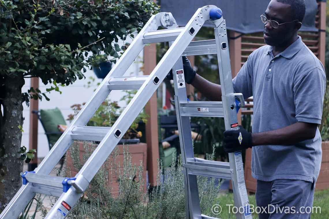 Werner 5-in-1 Telescoping 18 ft. Reach Aluminum Multi-Position Ladder