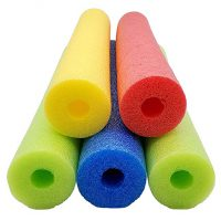 Fix Find 52 Inch Colorful Foam Pool Swim Noodle 5 Pack in Bright Jewel Tone Multicolors