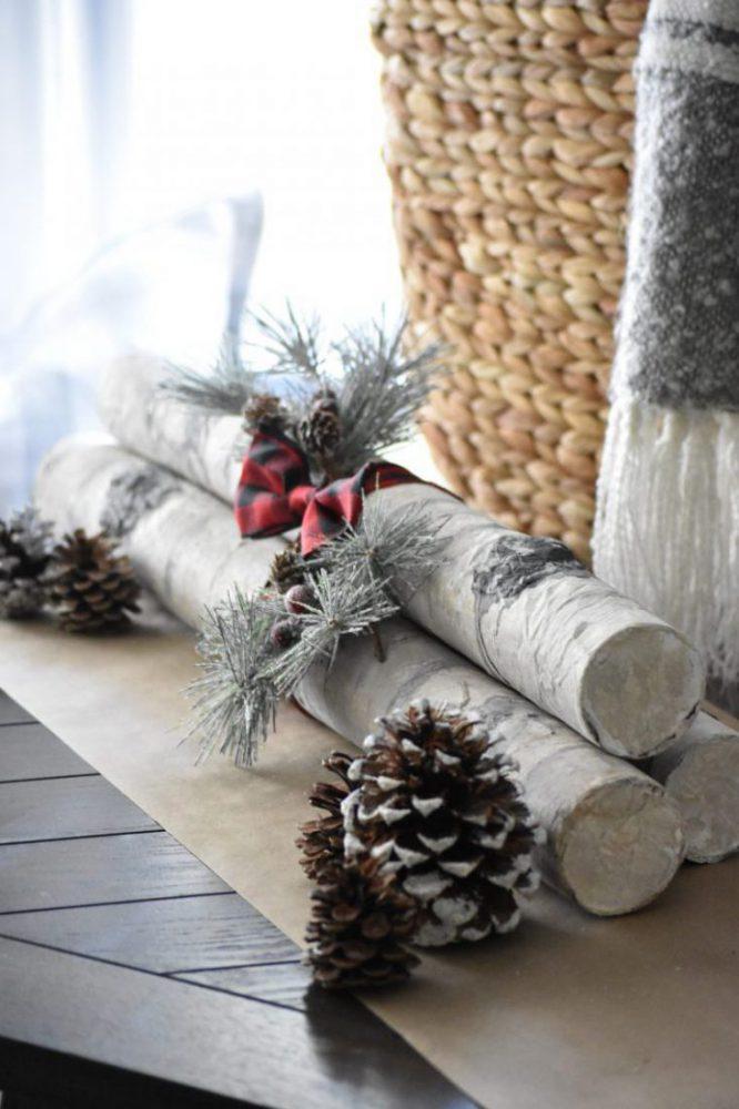 How to Make DIY Faux Birch Logs